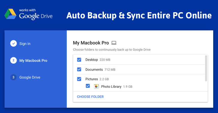 Backup your data and photos to Google Drive